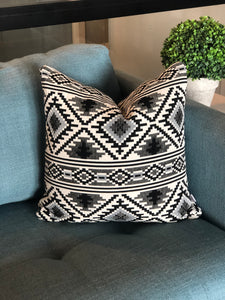 18 x 18 Black and White Southwest Decorative Throw Pillow Cover