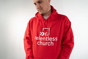 Adult - Relentless Red Hoodie