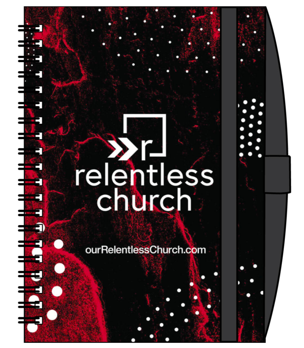 Red Relentless Notebook