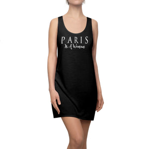 """Paris is a Woman"" - Great Summer Black Racerback Dress"