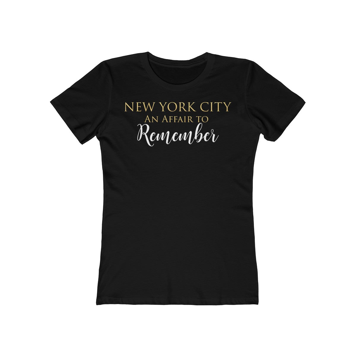 "New York City ""An Affair to Remember"" - Women's The Boyfriend Tee"