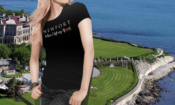 "Newport ""Where I Left My Heart"" -Unisex Bella + Canvas Jersey Short Sleeve Tee"