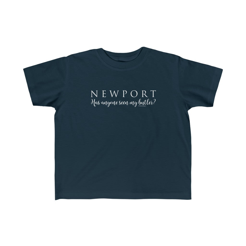 "Newport ""Has Anyone Seen My Butler?"" - Rabbit Skins Kid's Fine Jersey Tee"