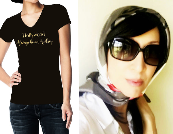 "Hollywood ""Always be an Audrey"" - Women's Slim Fit T-Shirt"