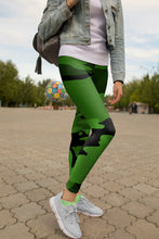 "Load image into Gallery viewer, ""Lucky Lass"" - Yoga Leggings"