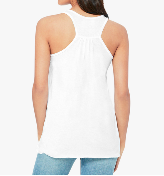 "Newport "" Meet me at the Tea House #SuffrageTea 1913"" Bella + Canvas Women's Flowy Racerback Tank"