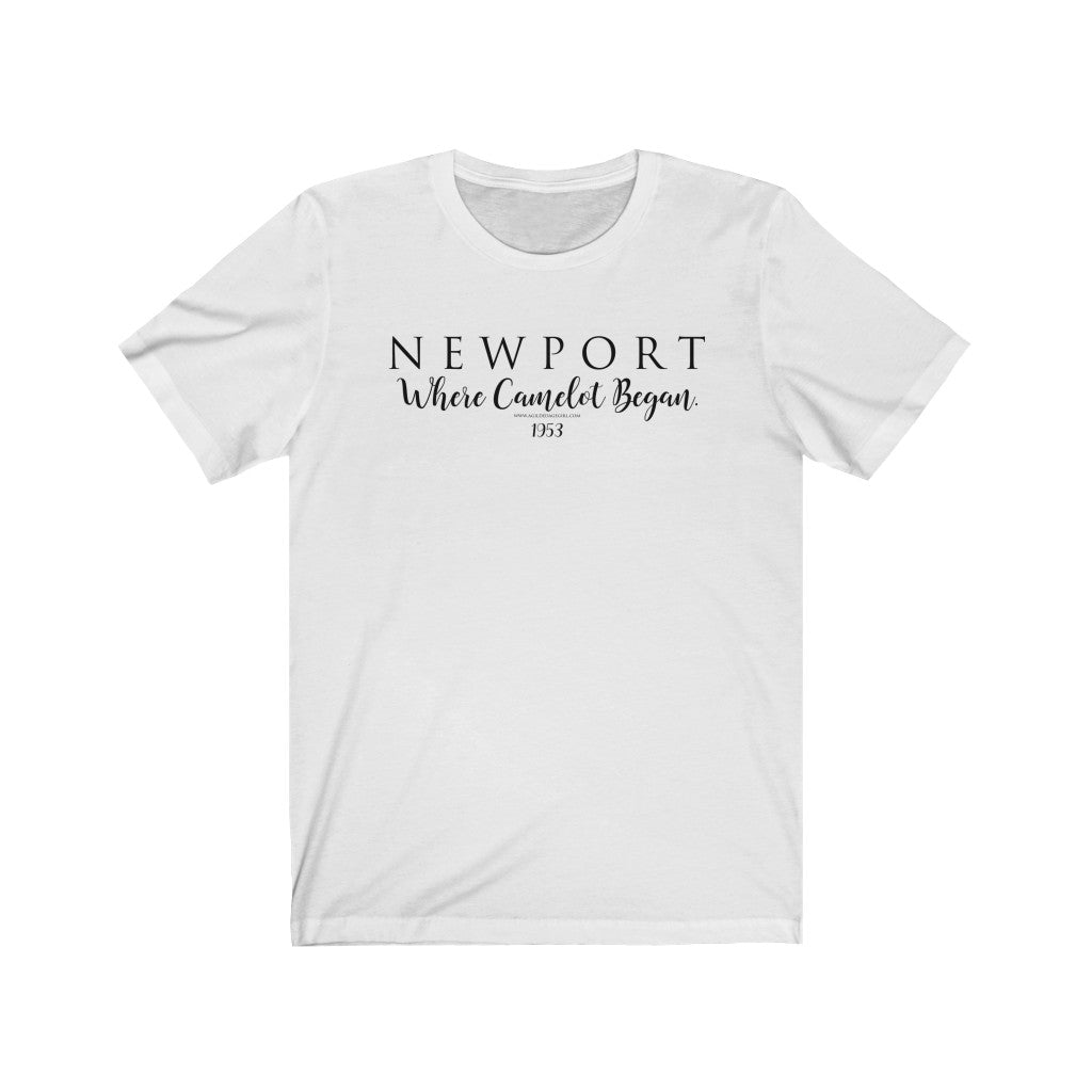 "NEWPORT ""Where Camelot Began"" 1953 - Bella + Canvas Unisex Jersey Short Sleeve Tee"