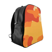"Load image into Gallery viewer, ""Orange Sherbet Camo"" - School Backpack"