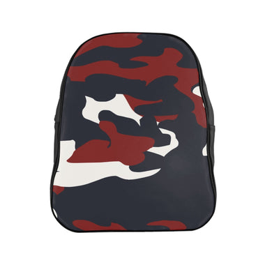 Proud Red White and Blue Camo -School Backpack