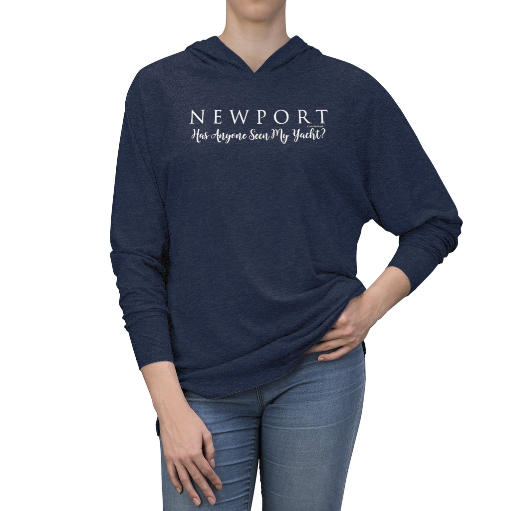 "Newport ""Has Anyone Seen My Yacht?"" -Unisex Tri-Blend Hoodie"