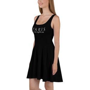 PARIS - Je Ne Regrette Rien- Black Skater Dress