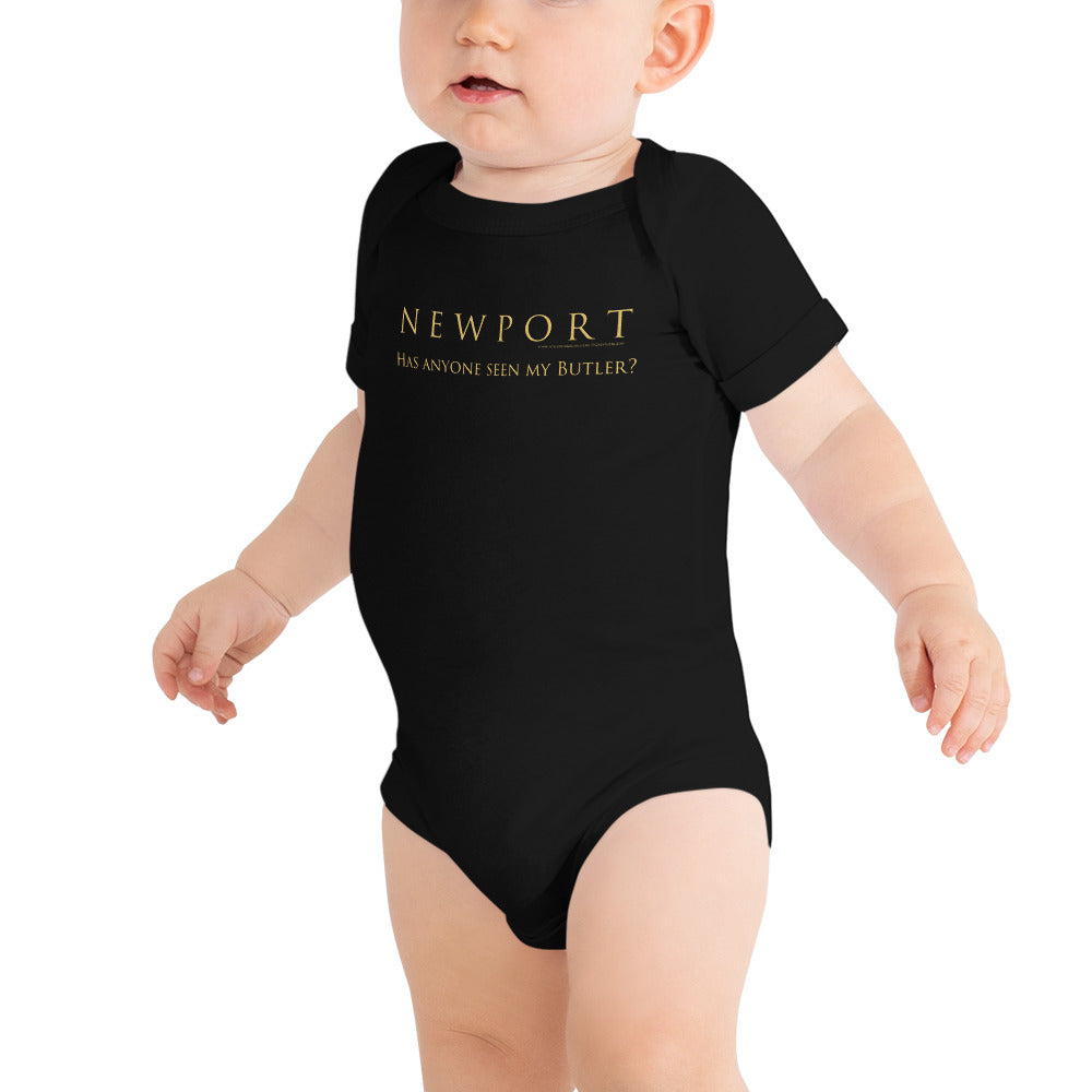 Newport - Has Anyone Seen my Butler? - Baby onesie