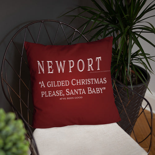 Newport Christmas - Santa Baby, I've Been Good- Pillow