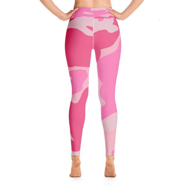 """Pretty in Pink"" - Camo Yoga Leggings"