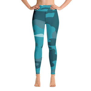 """Under the Boardwalk Down by the Sea"" Yoga Leggings"