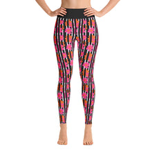 "Load image into Gallery viewer, ""Paris Peonies"" Yoga Leggings"