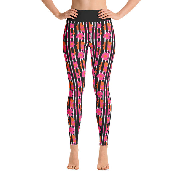 """Paris Peonies"" Yoga Leggings"