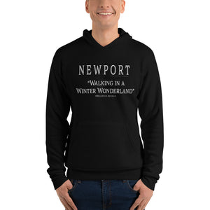 "Newport ""WALKING IN A WINTER WONDERLAND"" #Bellevue Avenue - Unisex hoodie"