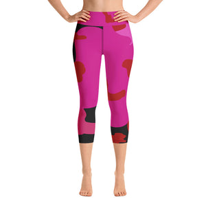 """Splash of Color"" Yoga Capri Leggings"