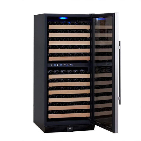 106-Bottle Dual Zone Stainless Steel Wine Refrigerator