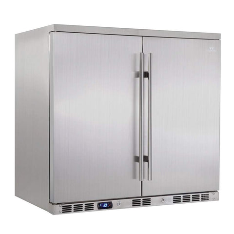 Double Solid Door Oudoor Beverage Cooler Fridge