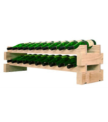 20-Bottle 2 x 10 Bottle Modular Wine Rack
