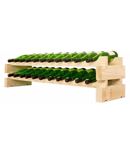 22-Bottle 2 x 11 Bottle Modular Wine Rack