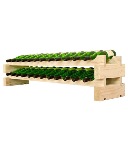 24-Bottle 2 x 12 Bottle Modular Wine Rack