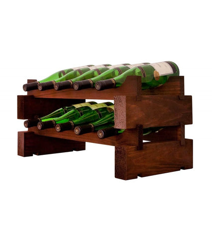 10-Bottle 2 x 5 Bottle Modular Wine Rack