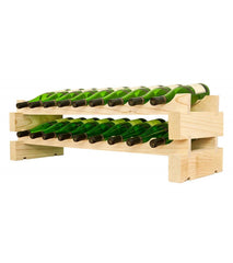 18-Bottle 2 x 9 Bottle Modular Wine Rack