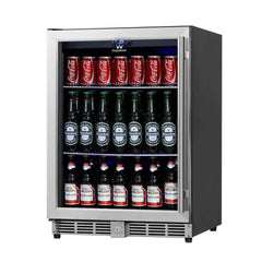 "24"" Under Counter Beverage Cooler With Glass Door"