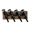 Image of Rustic Farmhouse™ Metal & Wood Wine Rack