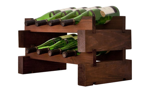 8-Bottle 2 x 4 Bottle Modular Wine Rack