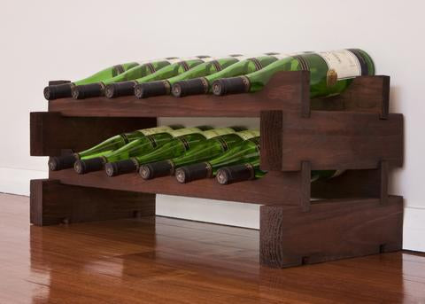 12-Bottle 2 x 6 Bottle Modular Wine Rack