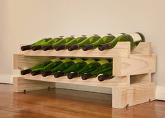 14-Bottle 2 x 7 Bottle Modular Wine Rack