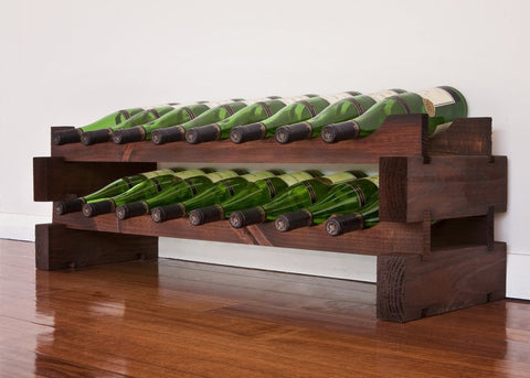 16-Bottle 2 x 8 Bottle Modular Wine Rack