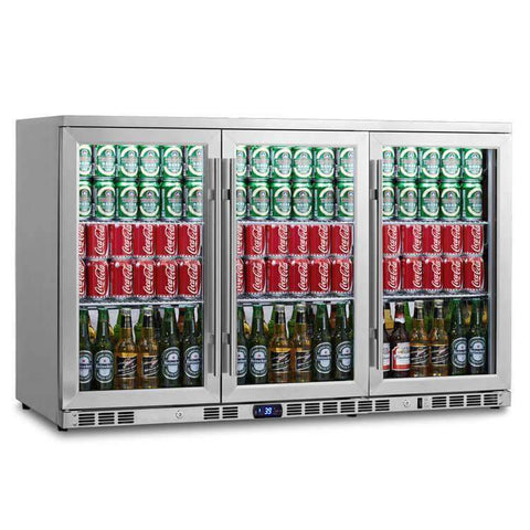 3-Door Heating Glass Undercounter Beverage Cooler Drink Center