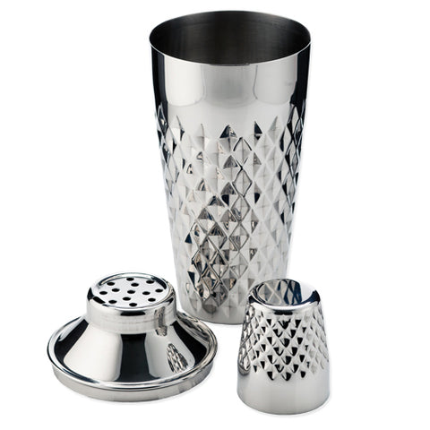 Admiral™ Stainless Steel Faceted Cocktail Shaker