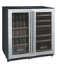 Image of FlexCount Series 30 Bottle/88 Can Dual Zone Stainless Steel  Wine Refrigerator/Beverage Center