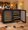 Image of FlexCount Series 112 Bottle Three Zone Black Wine Refrigerator