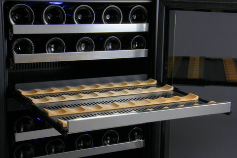 FlexCount Series 112 Bottle Three Zone Stainless Steel Wine Refrigerator