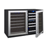 Image of FlexCount Series 112 Bottle Three Zone Stainless Steel Wine Refrigerator