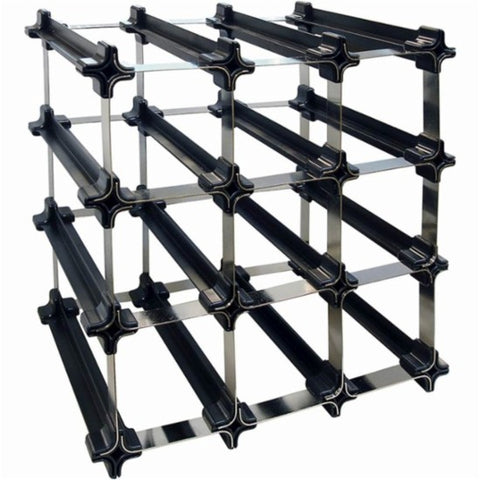 9 Bottle Epicureanist Snap and Stack Modular Wine Rack