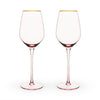 Image of Garden Party Rose Crystal White Wine Glass Set