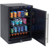 "Image of Built-In Compact Refrigerator - 24"" - 5.1 cu ft - Stainless Steel"