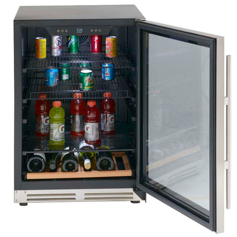 "24"" 5.9 cu. ft. Stainless Steel Beverage Center"
