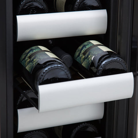 Elite 17 Bottle Seamless Stainless Steel Door Dual Zone Built-in Wine Refrigerator