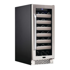 Elite 33 Bottle Seamless Stainless Steel Door Single Zone Built-in Wine Refrigerator