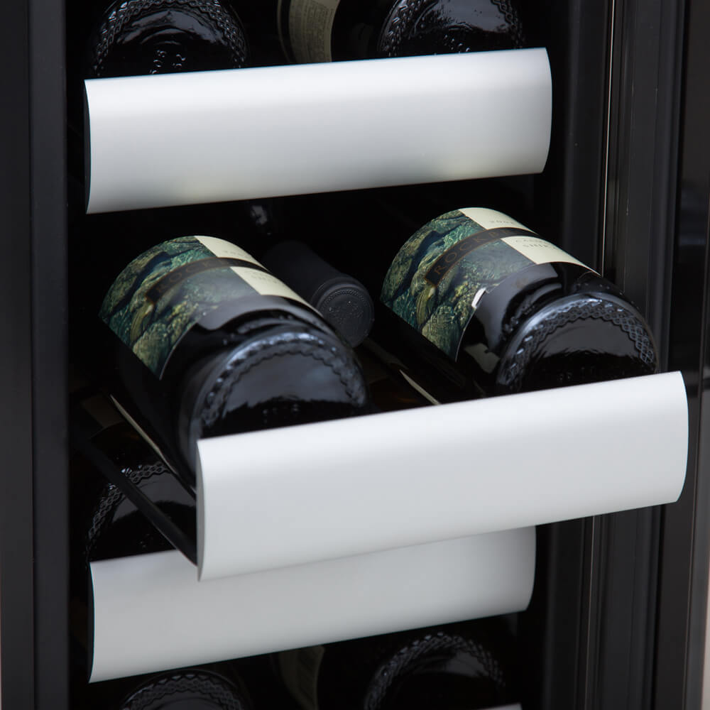 Whynter BWR-401DS 40 Bottle Dual Zone Built Wine Refrigerators Elite Series with Seamless Stainless Steel Doors,