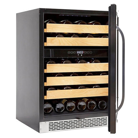 46 bottle Dual Temperature Zone Built-In Wine Refrigerator